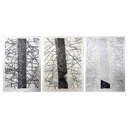 Alan Turner, Pine Cut Down, A - C, Lot of 3 Lithographs