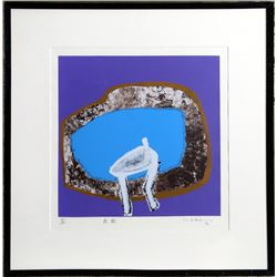 Manabu Mabe, Seated in Blue, Serigraph