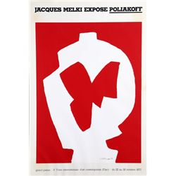 Serge Poliakoff, Jacques Melki Expose, Poster