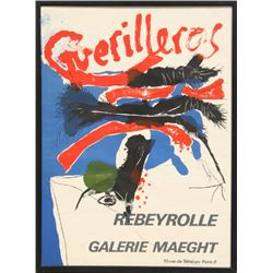 Paul Rebeyrolle, Guerilleros: Exhibition at Galerie Maeght, Lithograph Poster