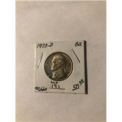 Extremely Nice 1973 D Jefferson Nickel BU MS66+ High Grade