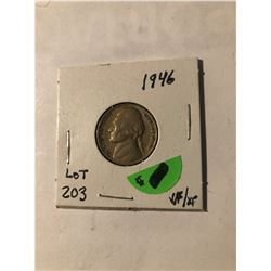 1946 Jefferson Nickel in Very Fine/Extra Fine Grade Nice Early 5 Cent Coin