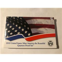 Never Opened RARE 2010 National Parks United States Mint Quarters PROOF Set