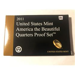 Never Opened RARE 2011 National Parks United States Mint Quarters PROOF Set