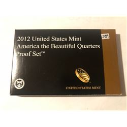 Never Opened RARE 2012 National Parks United States Mint Quarters PROOF Set