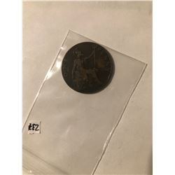 1903 British Large One Penny Nice Early GB Coin