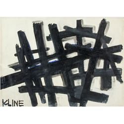 American New York Abstract OOC Signed KLINE