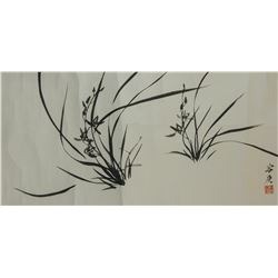 Rong Geng 1894-1983 Chinese Ink on Paper Roll