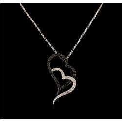 0.36 ctw Diamond Pendant With Chain - 10KT White Gold