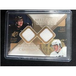 Alexander Ovechkin & Evgeni Malkin 2007-08 SPx Winning Combos Game-Used Jersey
