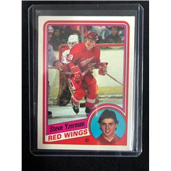 1984-85 O-PEE-CHEE #67 RED WINGS STEVE YZERMAN ROOKIE CARD