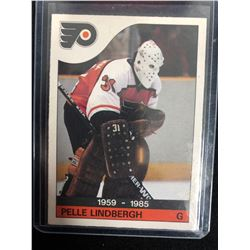 1985-86 O-PEE-CHEE #110 PELLE LINDBERGH MEMORIAL HOCKEY CARD