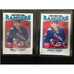 JIMMY VESEY 2016-17 O-Pee-Chee Rookie Card Lot