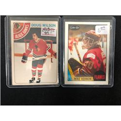 VINTAGE HOCKEY CARD LOT (DOUG WILSON/ MIKE VERNON)
