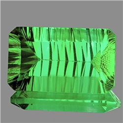 Natural ConCave Cut Emerald Green Fluorite 49 CT - IF