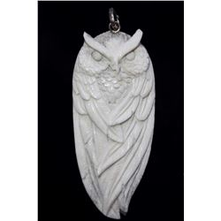 Hand Carved Owl Pendant