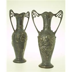Pair of vases, vitmetall, WMF
