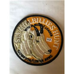 "RARE LARGE Vintage Outdoors ""THOMPSON CENTER ARMS SLY HILLBILLIES HUNT"" Patch in Like New Condition"