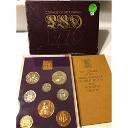 1970 Coinage of Great Britain & Northern Ireland Proof Set in Original Package with Paperwork