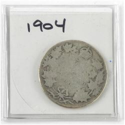 1904 Canada Silver 50 Cent Key Date