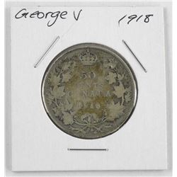 1918 George V Silver 50 Cent