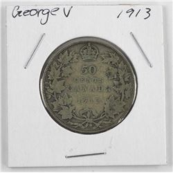 1913 George V Silver 50 Cent