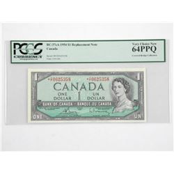 Bank of Canada 1954 * Replacement 1.00, Covered Br