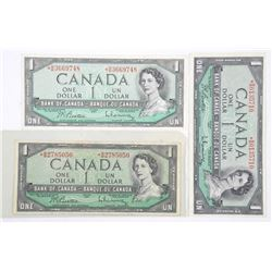 Lot (3) Bank of Canada 1954 * REPLACEMENTS