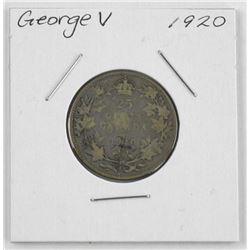1920 George V Silver 25 cent