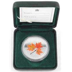 .9999 Fine Silver $5.00 Coloured - Maple Leaf