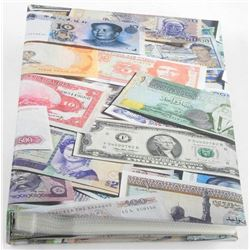 World Bank Note Collection in Binder Approx 100 No