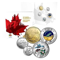 2017 Canada 150 5-Coin Collection in Folio