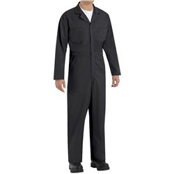 Red Kap Men's Twill Action Back Coverall- Black- 46 Long