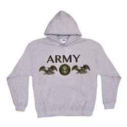 Fox Outdoor Products Army Seal Pullover Hoodie Sweatshirt- Grey- Small
