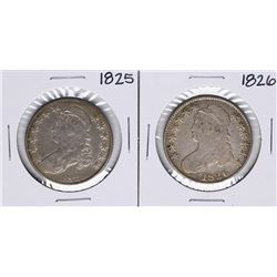 Lot of 1825-1826 Capped Bust Half Dollar Coins
