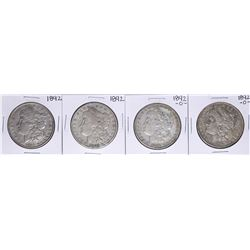 Lot of (2) 1892 & (2) 1892-O $1 Morgan Silver Dollar Coins