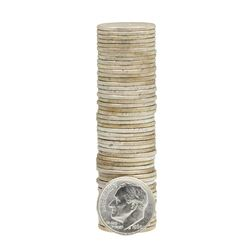 Roll of (50) 1960 Brilliant Uncirculated Roosevelt Dimes