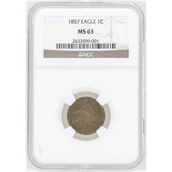 1857 Flying Eagle Cent Coin NGC MS63
