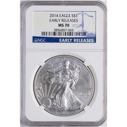 2014 $1 American Silver Eagle Proof Coin NGC MS70 Early Releases