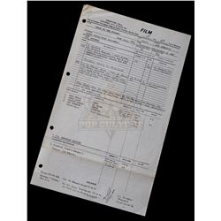 "Back to the Future - Original Production Call Sheet (4th Day of Filming) Featuring Eric Stoltz as ""M"