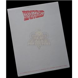 Back to the Future - Production Letterhead - 1158