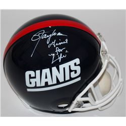 """Lawrence Taylor Signed Giants LE Full-Size Authentic Proline Helmet Inscribed """"Giant For Life"""" (Radt"""