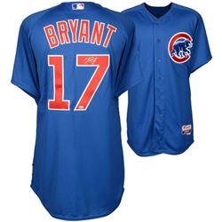Kris Bryant Signed Cubs Majestic Authentic Jersey (MLB Hologram  Fanatics Hologram)