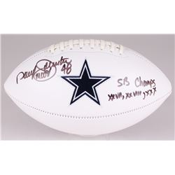 "Daryl ""Moose"" Johnston Signed Cowboys Logo Football Inscribed ""SB Champs XXVII, XXVIII, XXX"" (JSA CO"