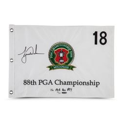 Tiger Woods Signed LE 2006 PGA Championship Pin Flag (UDA COA)