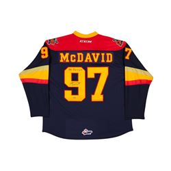 "Connor McDavid Signed Erie Otters Jersey Inscribed ""OHL R.O.Y 2013"" (UDA COA)"
