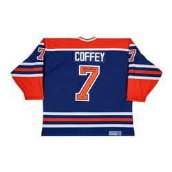 "Paul Coffey Signed LE Authentic Oilers Jersey Inscriebd ""H.O.F. 04"" (UDA COA)"