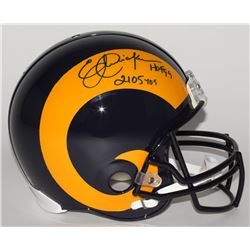 "Eric Dickerson Signed LE Rams Full-Size Authentic On-Field Throwback Helmet Inscribed ""HOF 99""  ""210"