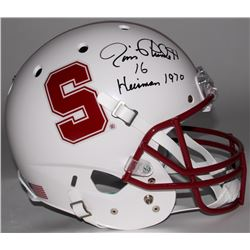 "Jim Plunkett Signed Stanford University Full-Size Helmet Inscribed ""Heisman 1970"" (Radtke COA)"