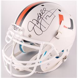 Jim Kelly Signed University of Miami Full-Size Authentic On-Field Helmet (Beckett COA)